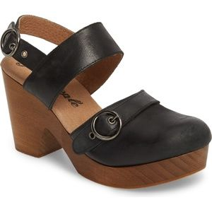 Free People Park Circle leather clog size 36